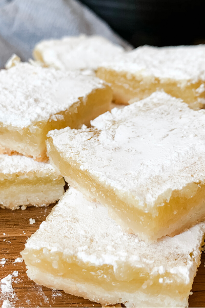 Delicious homemade lemon bars
