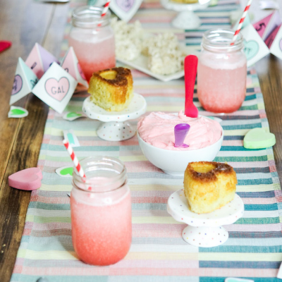 Colorful Valentine's Day Tablescape and DIY Themed Party