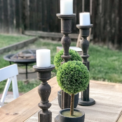 DIY Antique Baluster Candlesticks