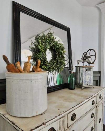 How to makeover an antique buffet