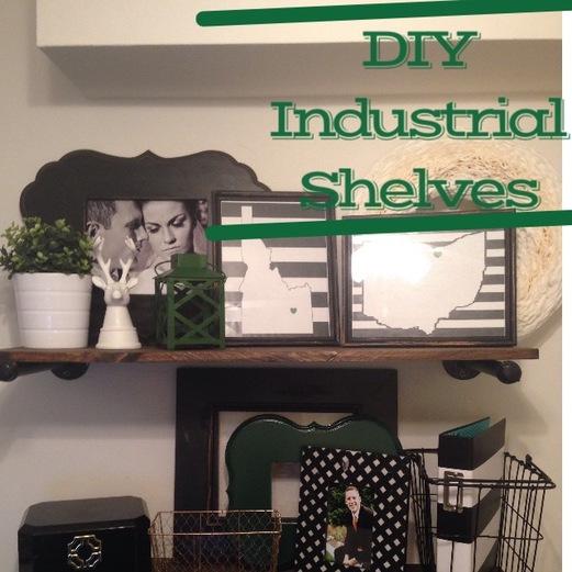DIY Restoration Hardware Industrial Shelves