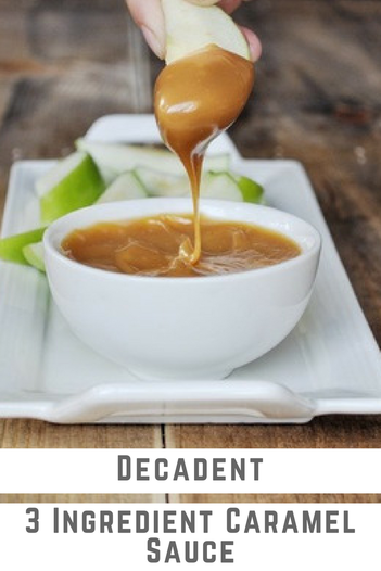 3 Ingredient caramel sauce that is incredibly easy to make, and the delicious!