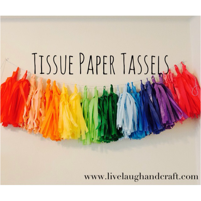 DIY Tissue Paper Tassels: Easy Party Decor