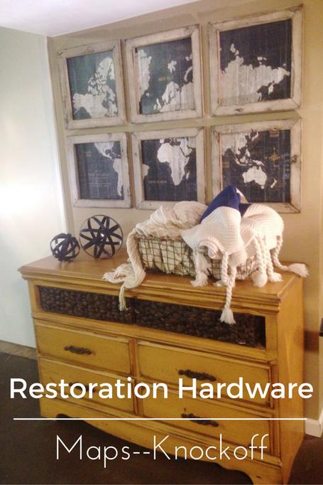 Restoration Hardware Knockoff-Pieced Map