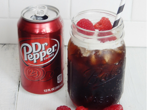 Coconut cream Dr. Pepper with Raspberry syrup.