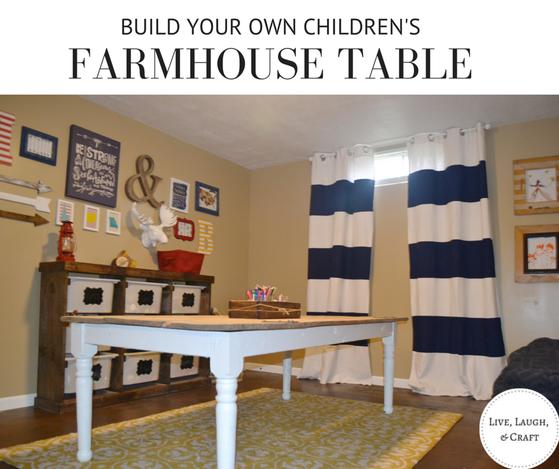 DIY children's farmhouse table