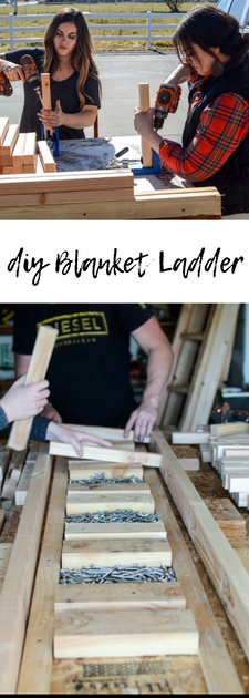 Rustic blanket ladder tutorial. Tried and true solid build. Inexpensive and easy.