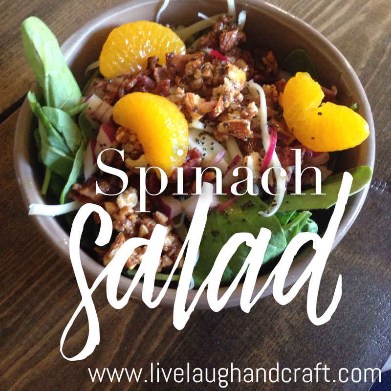 BYU-Idaho Spinach Salad
