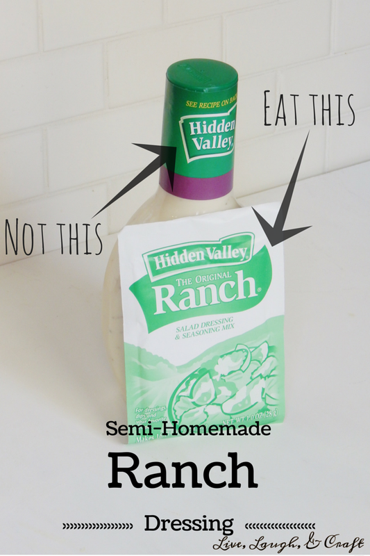 Semi-Homemade Ranch Dressing