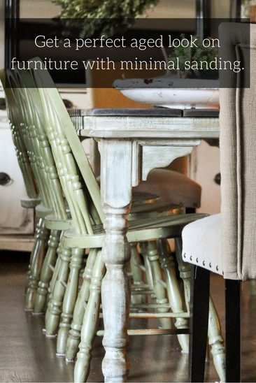 Farmhouse table makeover with little to no sanding using the Amy Howard Paint Line found online and at Ace Hardware. Such a game changer when it comes to furniture refinishing.