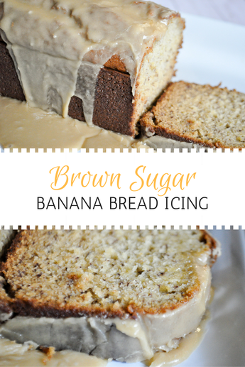 Decadent caramel icing for banana bread. SO delicious. This is the kind of recipe that will make you famous if you take it to someone or an event!