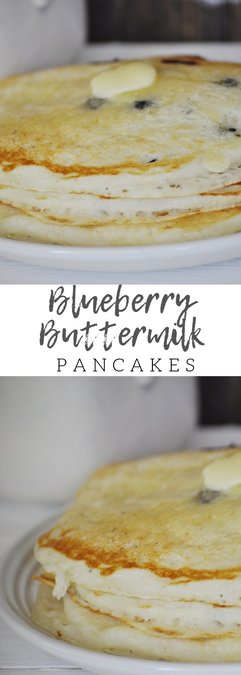 The best blueberry buttermilk pancakes EVER! Such a good breakfast or dinner.