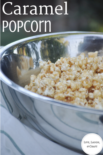 Easy caramel popcorn recipe. The most delicious I have honestly ever had.