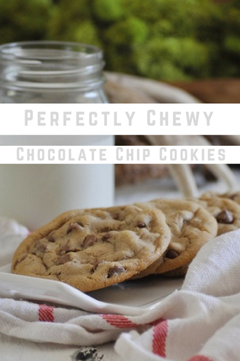 This is the perfect chocolate chip cookie recipe! My go-to no-fail recipe. #chocolatechipcookie #dessertrecipes #nofailrecipes