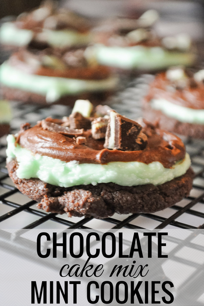 Chocolate and Mint Cookies that are DELISH and SO easy to make!