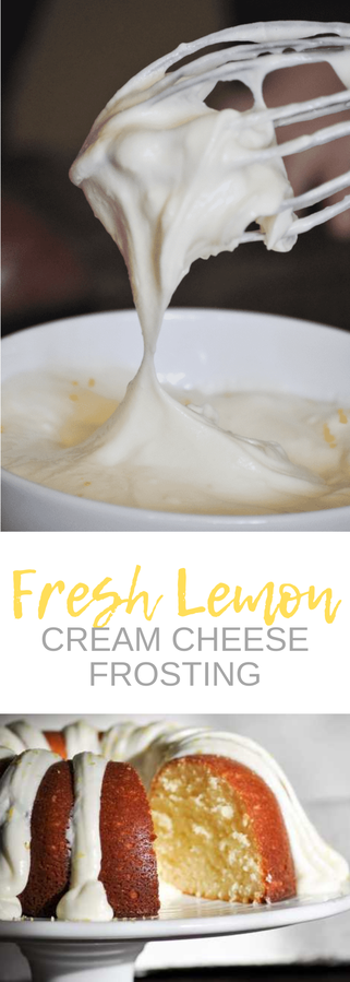 Fresh squeezed lemon cream cheese frosting....this is the mother of all frosting recipes! Seriously so good and perfectly tart and creamy.