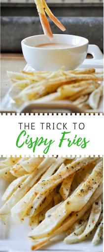 There's one vital and easy step in achieving crispy delicious homemade fries. Find it here.