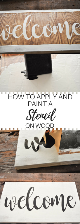 A how to instructional on applying stencils to wood surfaces for signs. Really easy and clear step by step photos and instructions on stencil application.