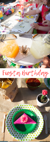 Colorful fiesta birthday party-- so cute and easy to throw together!! #partyinspiration #fiesta #kidsbirthday