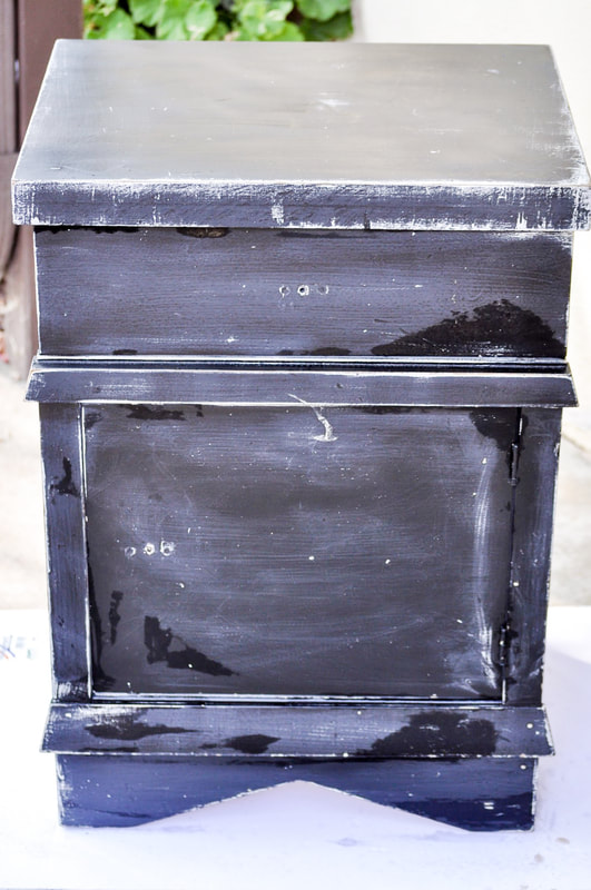 Can you paint chalk paint over a piece of furniture that has been spray painted?