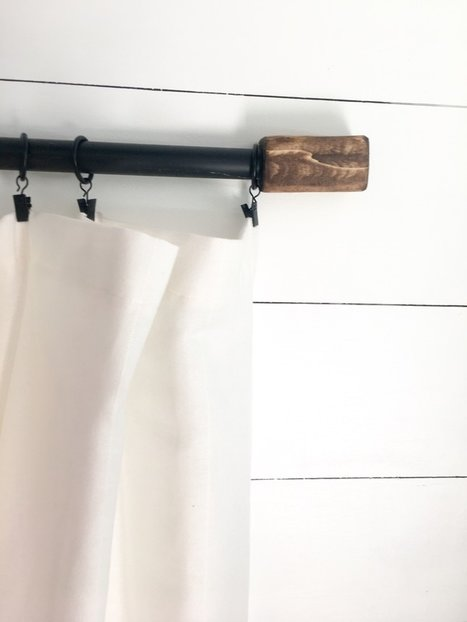 $5 Farmhouse Curtain Rod