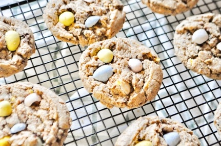 Chewy Cadbury Mini Egg Cookies are the perfect treat for Easter!