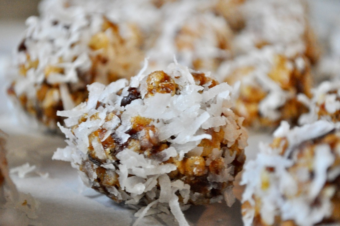 Chewy date balls are a Christmas favorite! Dates, nuts, and coconut go perfectly together in this candy! Your neighbors will love it!
