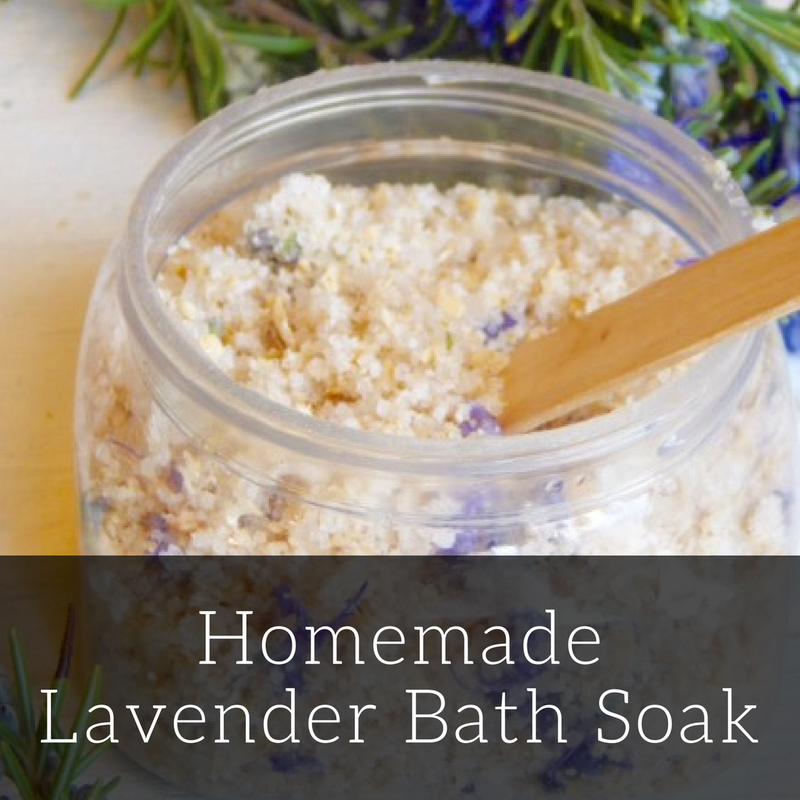 Homemade Lavender Bath Soak