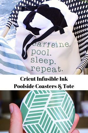 Cricut Infusible Ink makes waterproof coasters and tote bags that last a lifetime!