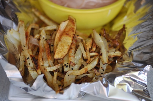 Roasted Garlic & Herb Grilled Fries