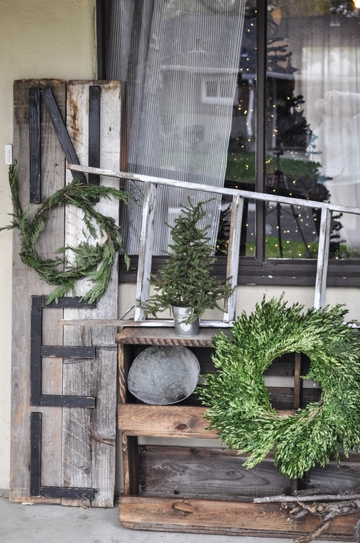 Rustic Noel Porch sign. Really is DIY and makes a big statement because of the size! And message!