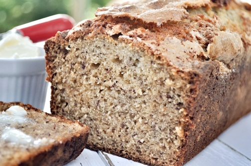 This buttermilk banana bread is moist and packed with flavor.