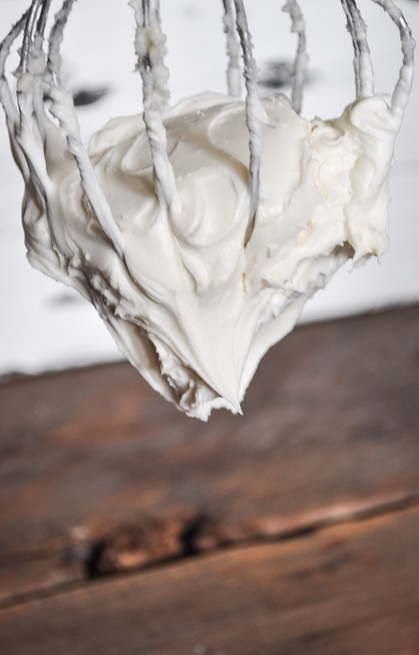 This frosting is thick, creamy, and decadent. I love the added heavy cream. It takes the frosting up a notch. This is not your ordinary cream cheese frosting.