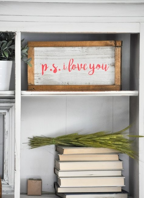 P.s. I Love you Valentine's Day Sign With the Silhouette Cameo