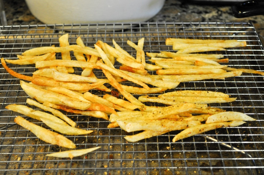 Perfectly crispy homemade fries