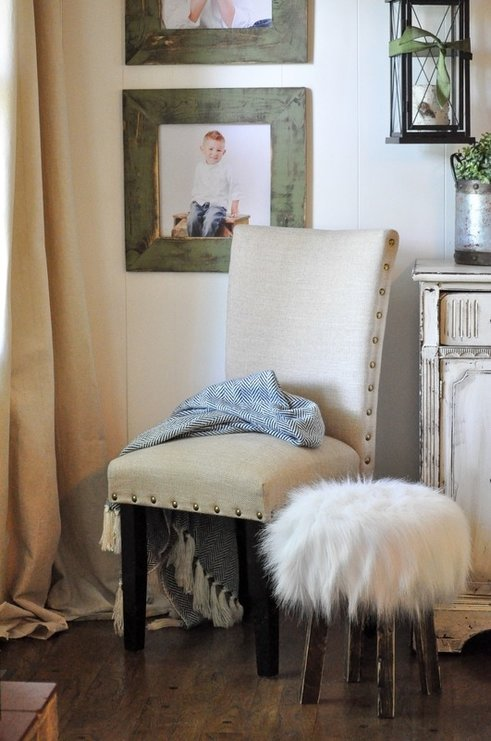 DIY No Sew Faux Fur Stool