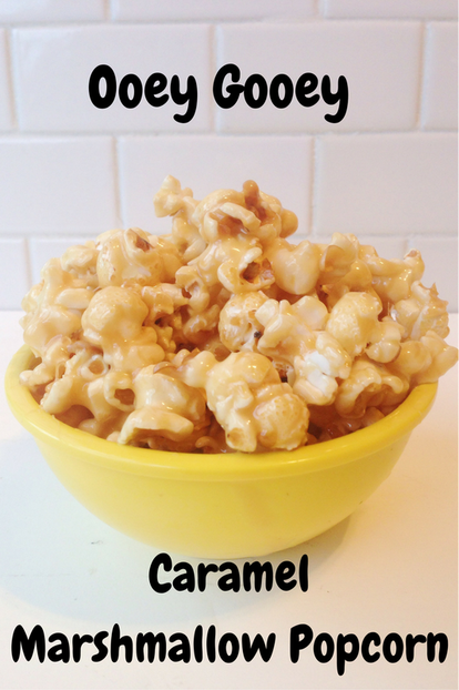 Melt in your mouth marshmallow caramel popcorn is the perfect holiday sweet treat!