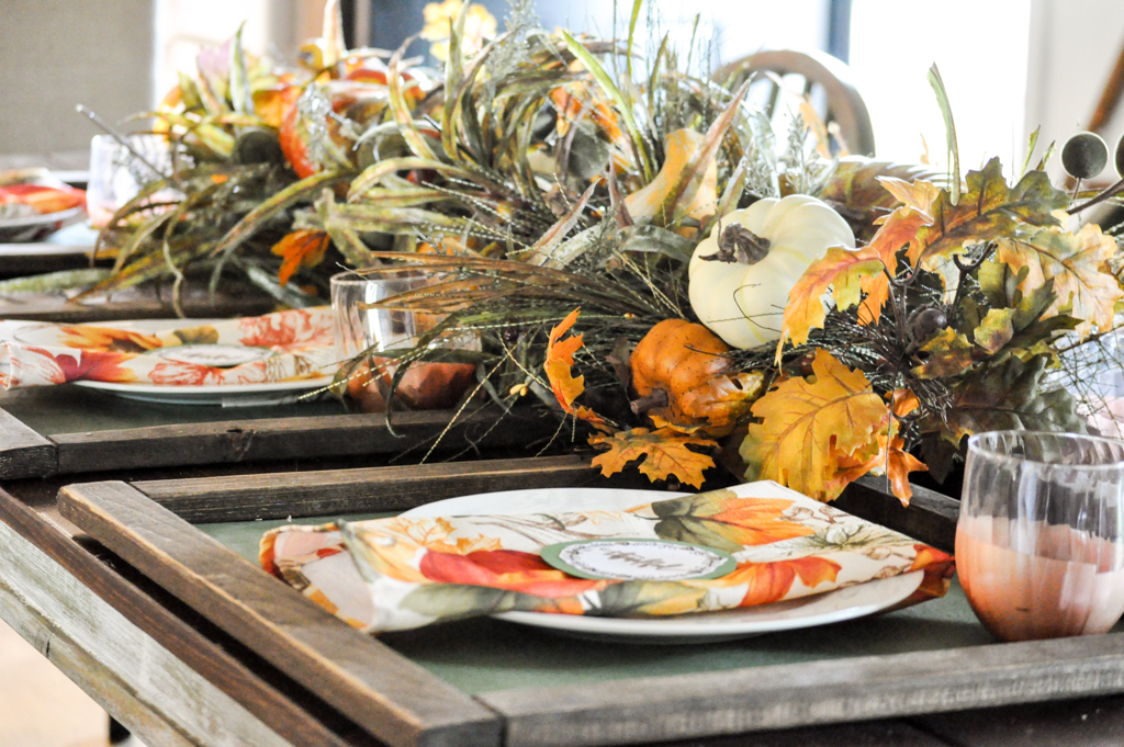 Falling Into Autumn–Tablescape Blog Hop