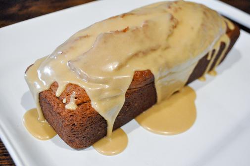 Brown sugar caramel icing for homemade banana bread