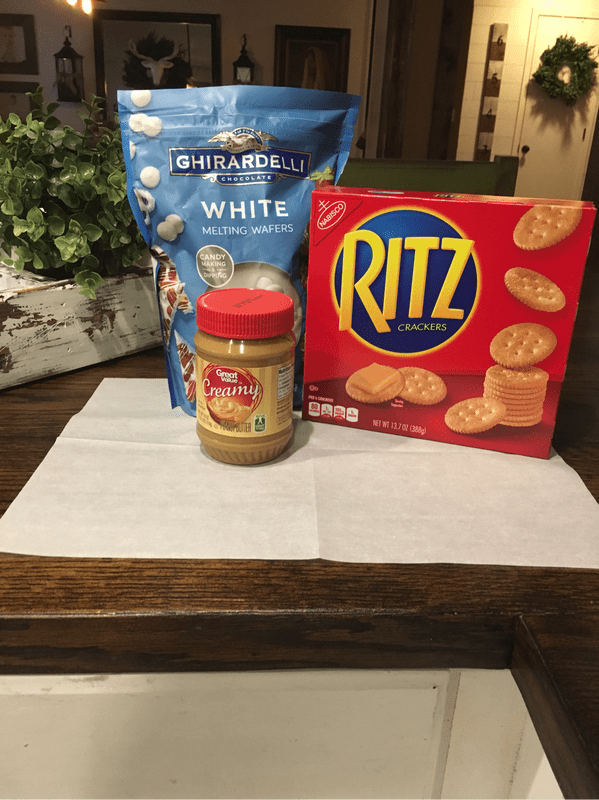 Peanut butter ritz aka homemade nutter butters are easy treats to throw together and so good!!