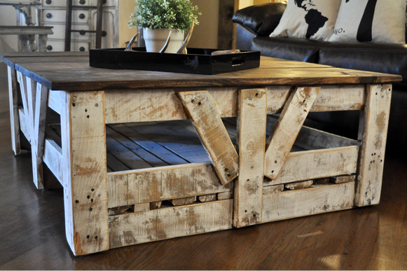 DIY Tile Crate Coffee Table for under $20