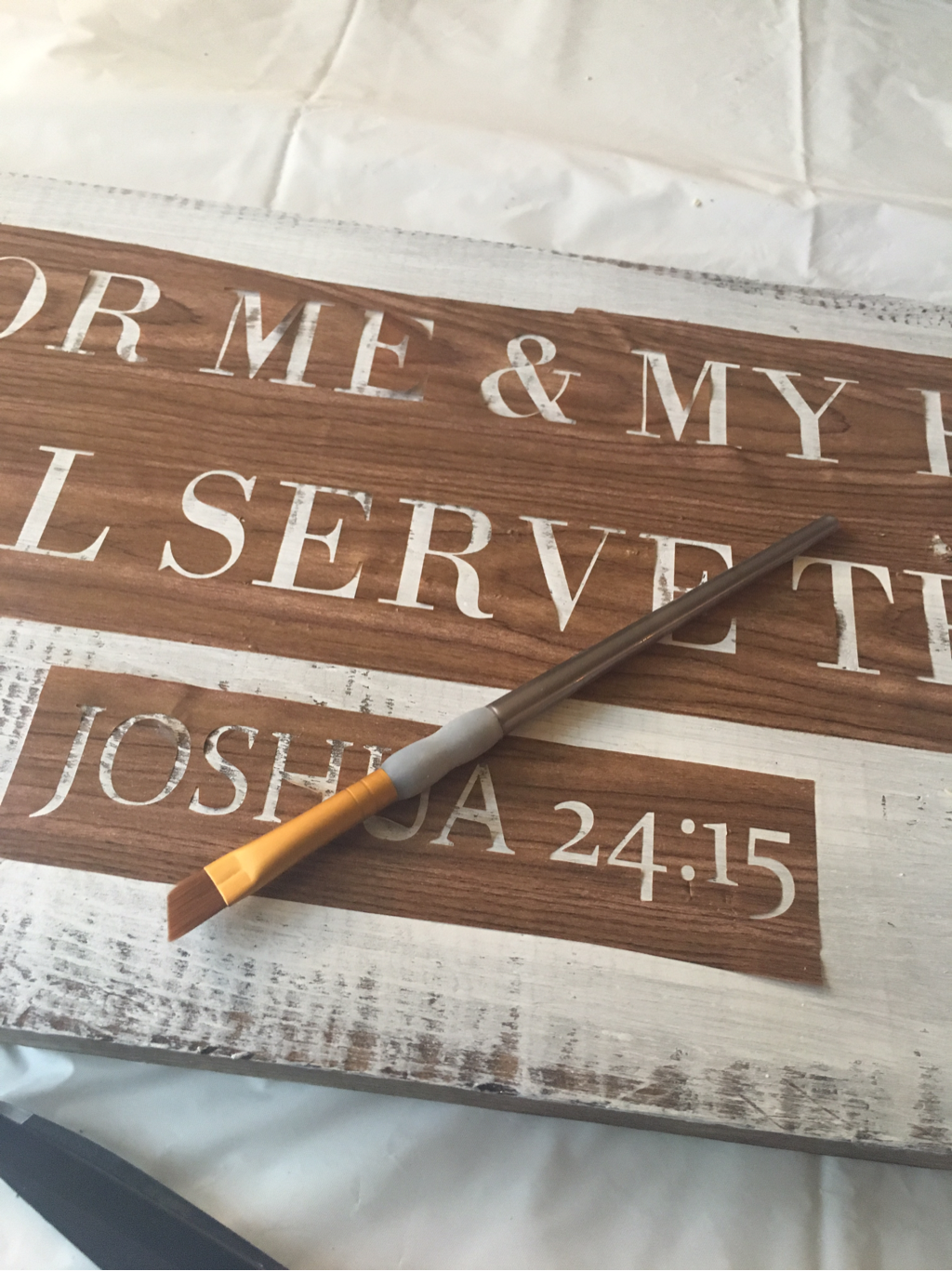 Easiest way to stencil word onto a sign