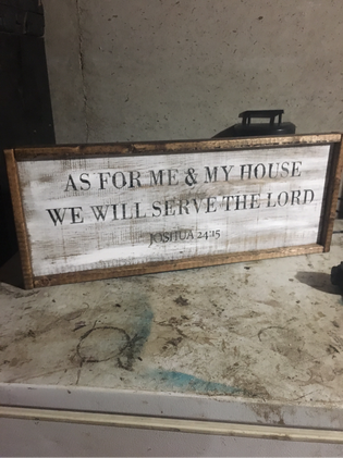 As for me and my house, we will serve the Lord sign