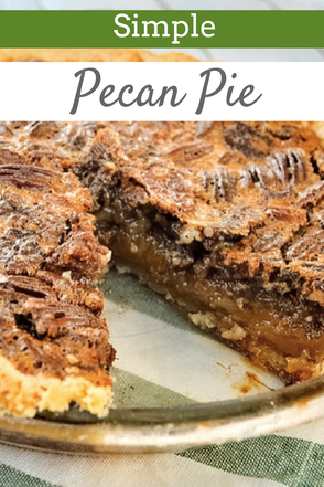 Delicious pecan pie recipe that is surprisingly simple to make.