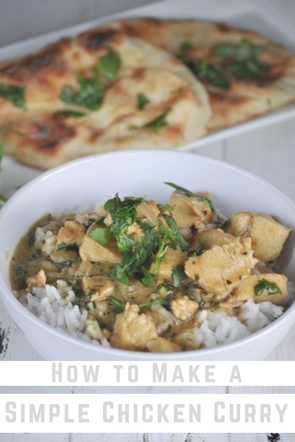 This chicken curry recipe is one you will crave again and again! It is absolutely delicious and really simple to make! Add this to your #dinnerrecipes for the week.