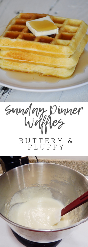 Light and fluffy, butttery tasting waffles perfect for dinner and waffles for a crowd. This is the bst waffle recipe you'll go back to and back to.