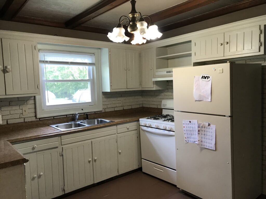 This old kitchen has seen some serious changes over the years. Come see how my old house kitchen remodel is going thus far.
