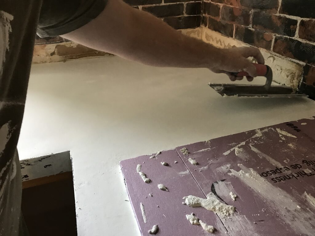 Pour in place concrete countertops.