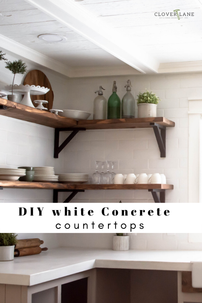 How to concrete countertops. Can you DIY concrete countertops? Best concrete countertop how to post. Bright white concrete countertops.