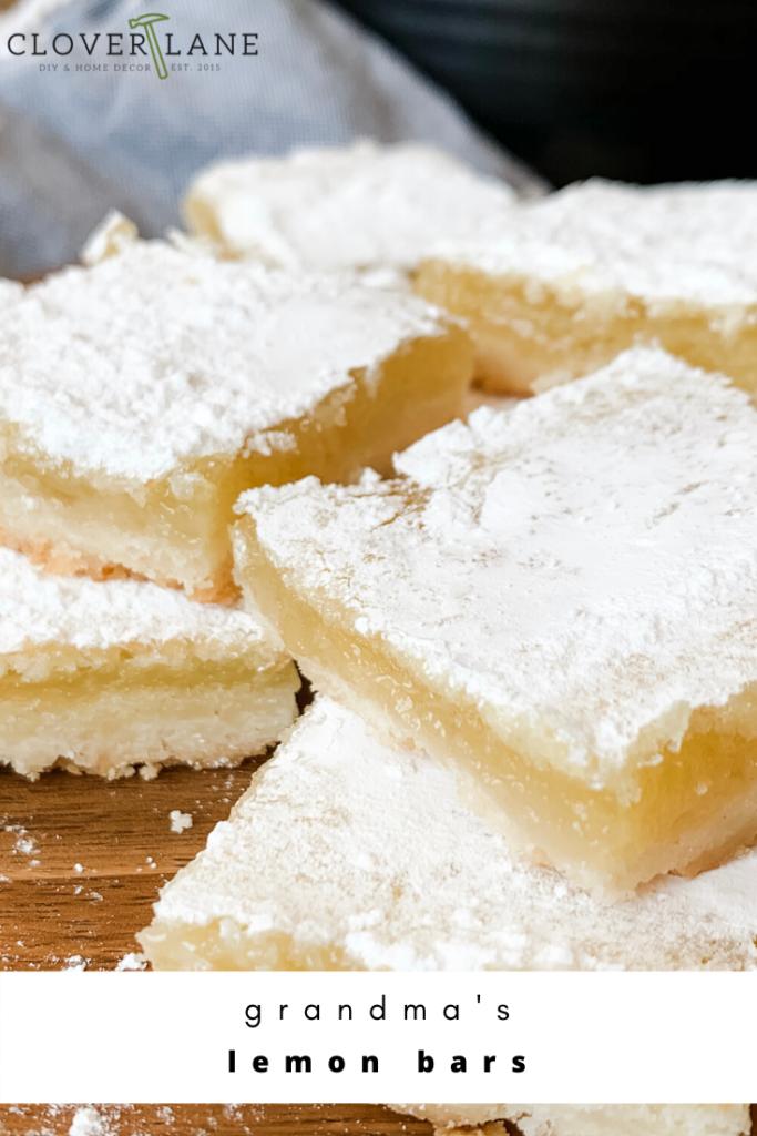 Classic lemon bars with flaky crust. The best lemon bar recipe.